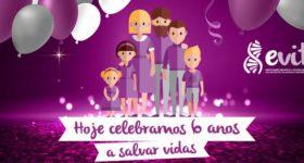 Evita celebra 6 anos a Salvar Vidas
