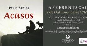 Apresentação da Evita e do livro Acasos, de Paulo Santos .